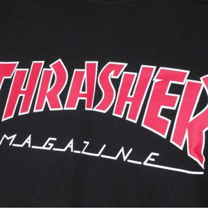 KOSZULKA THRASHER OUTLINED BLK