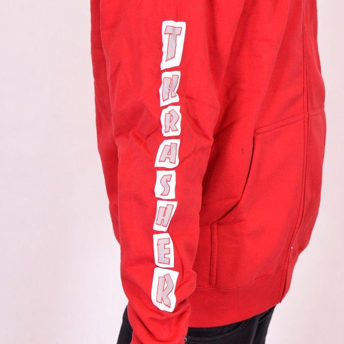 Sklep: bluza thrasher zip hood boxed logo red