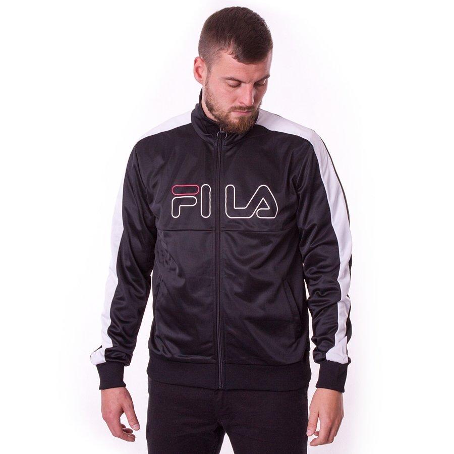 szczegółowy wygląd uroczy trampki Bluza męska Fila track jacket Finn black / bright white
