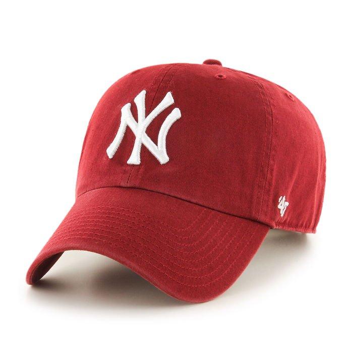 CZAPKA Z DASZKIEM 47 brand MLB New York Yankees Clean Up brg