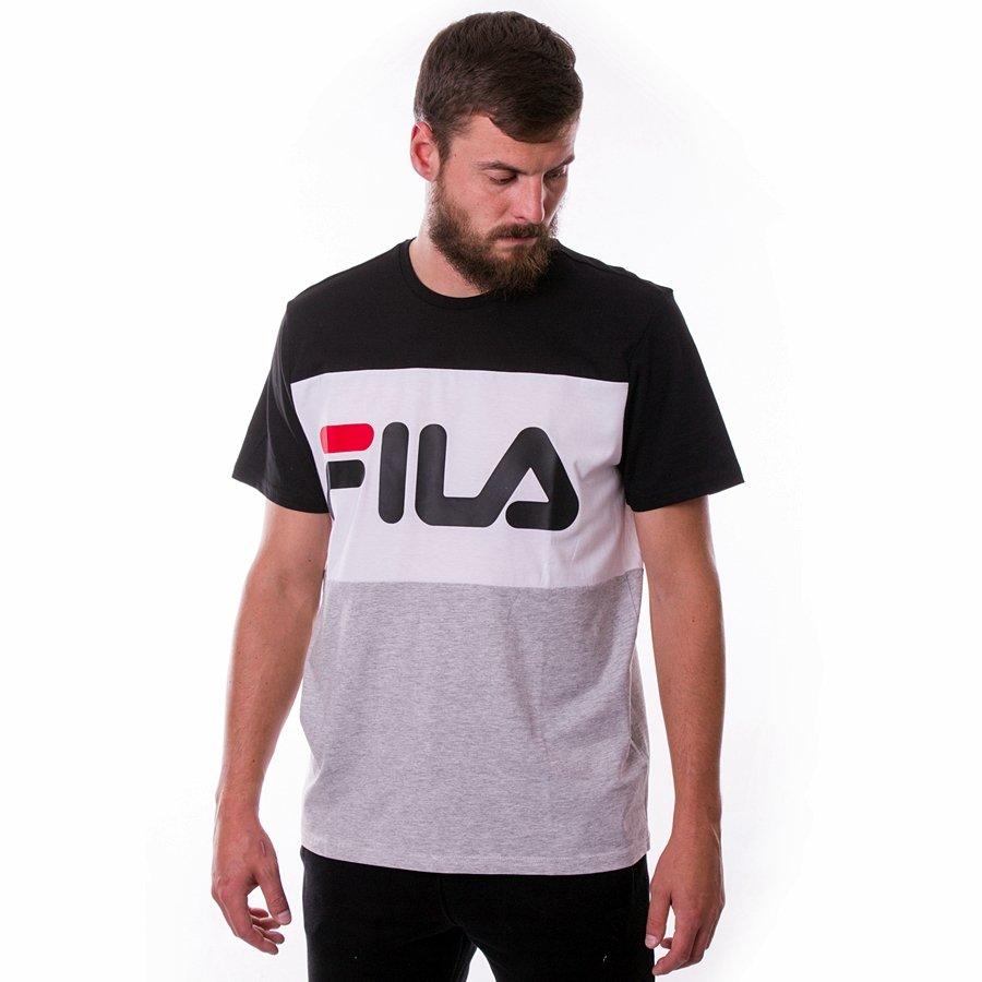 Koszulka męska FILA Men Day light grey melange black bright white
