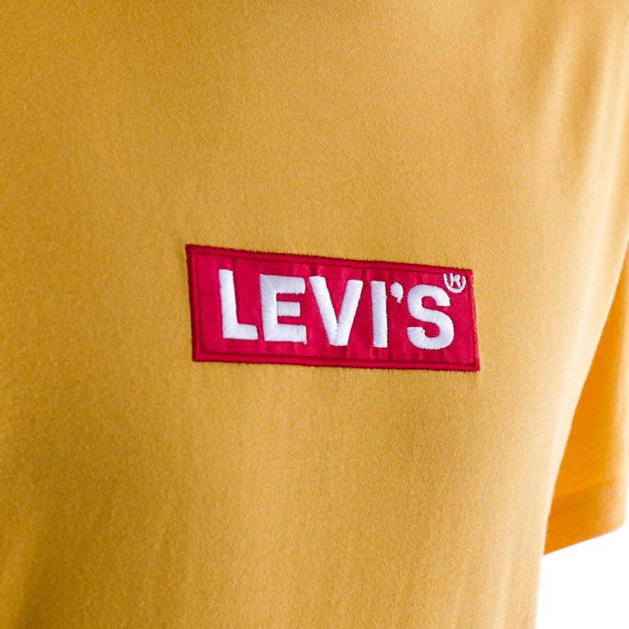 Koszulka męska Levi's® Skateboarding Relaxed Graphic Box Tab yellow (69978 0053)