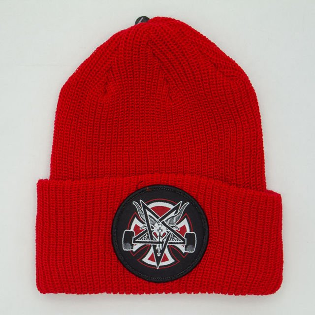 Czapka Independent Thrasher Pentagram Cross Beanie Lipstick