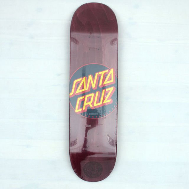 Deck Santa Cruz Classic Dot Burgandy 8.37