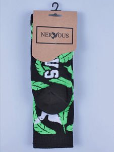 Skarpetki NERVOUS Feathers Blk